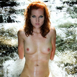 Naked Redhead Enjoying The Water - Big Tits, Exposed In Public, Firm Tits, Full Nude, Nude In Nature, Nude In Public, Perfect Tits, Redhead, Showing Tits, Trimmed Pussy, Water, Wet, Naked Girl, Sexy Body, Sexy Boobs, Sexy Figure, Sexy Girl, Sexy Legs, Sexy Woman, Young Woman