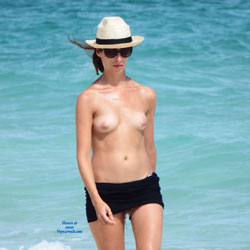 Topless At The Beach - Erect Nipples, Exposed In Public, Firm Tits, Hard Nipple, Nude Beach, Nude Outdoors, Perfect Tits, Showing Tits, Sunglasses, Topless Beach, Topless Girl, Topless Outdoors, Topless, Water, Beach Tits, Beach Voyeur, Sexy Body, Sexy Figure, Sexy Girl, Sexy Legs, Young Woman