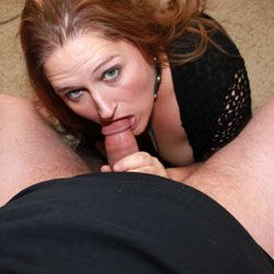 Sexy Redhead Sucking A Hard Cock - Indoors, Redhead, Hot Girl, Sexy Face, Sexy Girl, Blowjob, Cumshot, Deep Throat, Swallow Cum