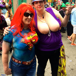 Big Tits At Mardi Gras - Big Tits, Exposed In Public, Firm Tits, Flashing Tits, Flashing, Huge Tits, Nude In Public, Nude Outdoors, Showing Tits, Hot Girl, Sexy Boobs, Sexy Face, Sexy Girl
