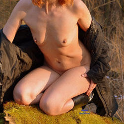 Redhead Poses Naked In Nature - Boots, Erect Nipples, Exposed In Public, Firm Tits, Hard Nipple, Naked Outdoors, Nipples, No Panties, Nude In Nature, Nude In Public, Nude Outdoors, Redhead, Short Hair, Small Tits, Hot Girl, Sexy Body, Sexy Face, Sexy Figure, Sexy Girl, Sexy Legs, Wife/Wives