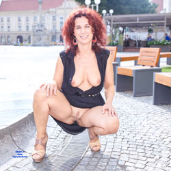 Nude Redhead In The City - Big Tits, Exposed In Public, Flashing Tits, Flashing, Heels, Huge Tits, Nude In Public, Nude Outdoors, Redhead, Showing Tits, Trimmed Pussy, Hot Girl, Sexy Body, Sexy Boobs, Sexy Face, Sexy Legs