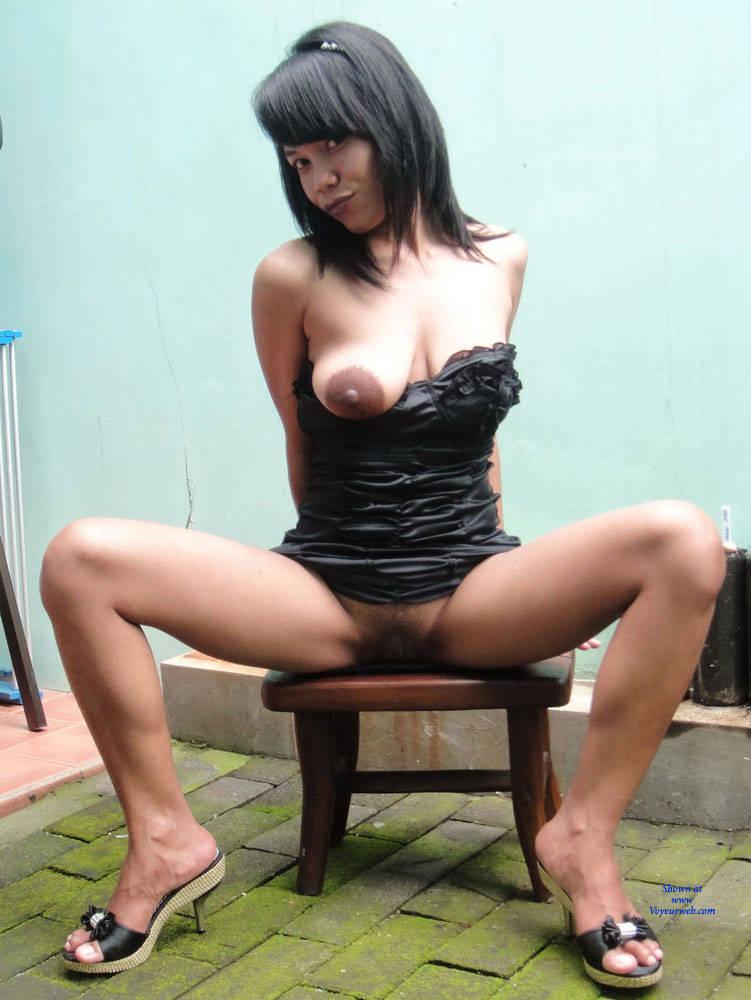 Pic #1 - Under Her Black Dress - Big Tits, Brunette Hair , Asian, Tits, Dressed, Undressed, Big Tits