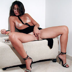 Nude Dreaming Of A Big Dick - Brunette Hair, Hard Nipple, Heels, Indoors, Masturbation, Nipples, No Panties, Shaved Pussy, Short Hair, Showing Tits, Spread Legs, Touching Pussy, Hairless Pussy, Hot Girl, Sexy Body, Sexy Face, Sexy Figure, Sexy Girl, Sexy Legs, Cumshot, Amateur