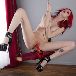 Naughty Redhead In Dildo Swinging - Artistic Nude, Firm Tits, Heels, Masturbation, Nipples, Redhead, Shaved Pussy, Showing Tits, Spread Legs, Tattoo, Hairless Pussy, Sexy Body, Sexy Figure, Sexy Girl, Sexy Legs, Toys, Penetration Or Hardcore