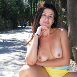 Nude Pose In Public Showing Her Asets - Big Tits, Brunette Hair, Exposed In Public, Firm Tits, Flashing Tits, Flashing, Long Hair, Nipples, Nude In Nature, Nude In Public, Nude Outdoors, Shaved Pussy, Showing Tits, Spread Legs, Hairless Pussy, Hot Girl, Sexy Body, Sexy Boobs, Sexy Face, Sexy Figure, Sexy Legs, Face Sitting