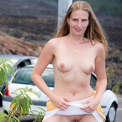 Roadside Naked Show - Blonde Hair, Erect Nipples, Exposed In Public, Firm Tits, Flashing, Full Frontal Nudity, Full Nude, Long Hair, Naked Outdoors, Nipples, Nude In Public, Nude Outdoors, Perfect Tits, Shaved Pussy, Showing Tits, Hairless Pussy, Naked Girl, Sexy Boobs, Sexy Girl, Sexy Legs