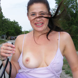 Stripped While Walking - Big Tits, Brunette Hair, Erect Nipples, Exposed In Public, Firm Tits, Flashing Tits, Flashing, Hard Nipple, Nipples, Nude In Public, Nude Outdoors, Perfect Tits, Showing Tits, Strip, Hot Girl, Sexy Body, Sexy Boobs, Sexy Girl