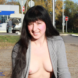 Sweet Brunette Showing Tits In Public - Big Tits, Brunette Hair, Exposed In Public, Firm Tits, Flashing Tits, Flashing, Nipples, Nude In Public, Perfect Tits, Pussy Lips, Showing Tits, Sexy Body, Sexy Boobs, Sexy Face, Sexy Girl, Young Woman