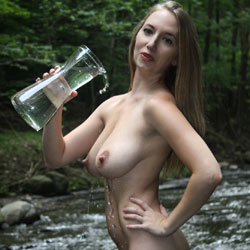 Naked Brunette At The River Drinking Water - Big Tits, Brunette Hair, Full Nude, Hanging Tits, Hard Nipple, Huge Tits, Long Hair, Naked Outdoors, Nude In Nature, Nude In Public, Perfect Tits, Showing Tits, Hot Girl, Naked Girl, Sexy Ass, Sexy Body, Sexy Boobs, Sexy Figure, Sexy Girl, Sexy Legs