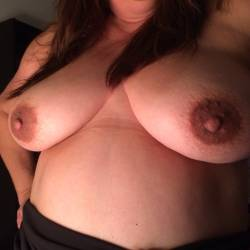 Very large tits of my wife - Christy