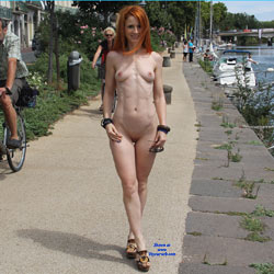 Seducing Redhead Naked At The Port Side - Exposed In Public, Firm Tits, Flashing, Hard Nipple, Naked Outdoors, Nipples, Nude In Public, Redhead, Sandals, Shaved Pussy, Showing Tits, Small Tits, Hairless Pussy, Hot Girl, Naked Girl, Sexy Body, Sexy Figure, Sexy Girl, Sexy Legs