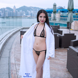 Sexy Asian Girl In See Through Bikini - Asian Girl, Bikini, Brunette Hair, Heels, Nipples, See Through, Shaved Pussy, Small Tits, Hairless Pussy, Hot Girl, Sexy Body, Sexy Figure, Sexy Girl, Sexy Legs