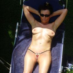 Sunbathing - Big Tits, Brunette