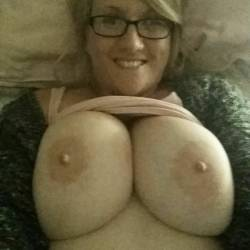 Very large tits of my girlfriend - fiona