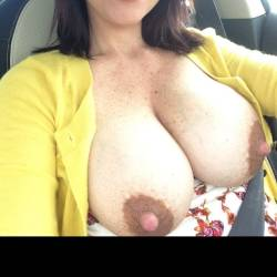 Very large tits of my wife - Anna