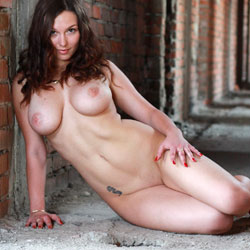 Naked Brunette's Seducing Pose - Big Tits, Brunette Hair, Firm Tits, Full Nude, Naked Outdoors, Natural Tits, Perfect Tits, Shaved Pussy, Showing Tits, Tattoo, Naked Girl, Sexy Body, Sexy Boobs, Sexy Girl, Sexy Legs