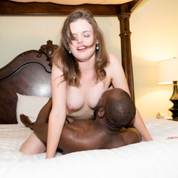 Interracial Sex On Bed - Bed, Full Nude, Naked In Bed, Showing Tits, Sexy Body, Sexy Boobs, Sexy Face, Sexy Girl, Girl On Guy, Interracial