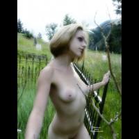 Hot Goth In Graveyard - Blonde Hair, Exhibitionist, Large Aerolas, Navel Piercing, Naked Girl, Nude Amateur