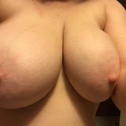 Very large tits of my wife - MrsAZ35