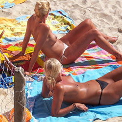 Topless Nude On Beach - Blonde Hair, Nipples, Showing Tits, Small Tits, Sunglasses, Topless Girl, Topless Outdoors, Topless, Beach Tits, Beach Voyeur, Sexy Body, Sexy Legs, Sexy Panties