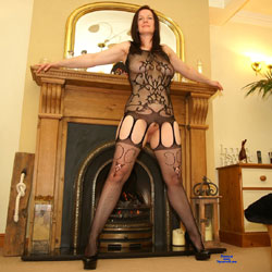 Nude Brunette Wearing Heels And Body Stockings - Big Tits, Brunette Hair, Heels, Indoors, Perfect Tits, Stockings, Trimmed Pussy, Sexy Body, Sexy Boobs, Sexy Girl, Sexy Legs, Sexy Lingerie
