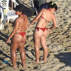 Janga Beach, Paulista City - Beach Voyeur, Bikini Voyeur, Brunette