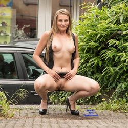 Nude Blonde Spreading Legs In Public - Big Tits, Blonde Hair, Exposed In Public, Flashing, Heels, Nipples, Nude In Public, Nude Outdoors, Pussy Lips, Shaved Pussy, Spread Legs, Sexy Body, Sexy Boobs, Sexy Legs, Sexy Panties