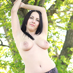 Nude Brunette In Nature - Big Tits, Brunette Hair, Naked Outdoors, Nipples, Nude In Nature, Nude Outdoors, Perfect Tits, Trimmed Pussy, Sexy Legs, Sexy Lingerie