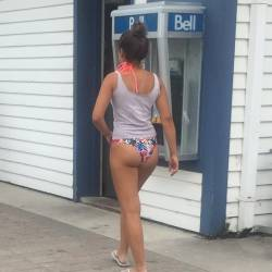 A neighbor's ass - young lady