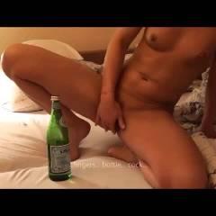 Fingers, Bottle, Cock - Anal, Ass Fucking, Blonde, Masturbation, Penetration Or Hardcore