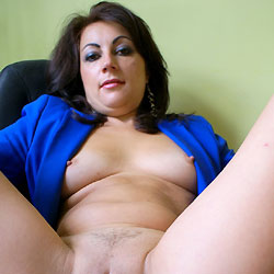 Anna Close Up Pussy - Big Tits, Brunette Hair, Chair, Close Up, Erect Nipples, Leg Up, Pussy Lips, Sexy Legs