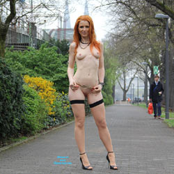 Redhead Vienna Nude in Public Wearing Heels - Erect Nipples, Exposed In Public, Firm Tits, Flashing, Heels, Nipples, Nude In Public, Perfect Tits, Redhead, Shaved Pussy, Sexy Body, Sexy Legs