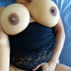 Extremely large tits of my wife - DCWife