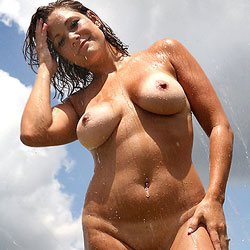Backyard Sprinkler Bathing - Big Tits, Brunette Hair, Exposed In Public, Full Nude, Naked Outdoors, Nude In Public, Nude Outdoors, Perfect Tits, Showing Tits, Water, Wet, Hairless Pussy, Naked Girl, Sexy Body, Sexy Boobs, Sexy Face, Sexy Legs, Sexy Woman