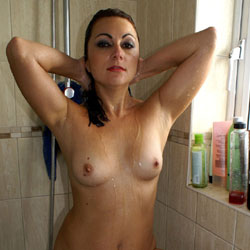 Anna In The Shower - Brunette Hair, Firm Tits, Full Nude, Hairy Bush, Hard Nipple, Nipples, Showing Tits, Trimmed Pussy, Water, Wet, Hot Girl, Naked Girl, Sexy Body, Sexy Boobs, Sexy Face, Sexy Figure, Sexy Girl, Sexy Legs, Amateur