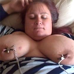Arlinda Bbw In Nipple Clamps - Big Tits, Amateur