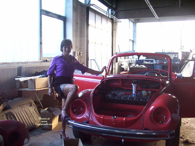 Pic #1 - In The Car-garage , I Love My Old Red Car.<br />I Hope You Love Me.:-) And I Make You Hot.<br />Sorry For My Bed English