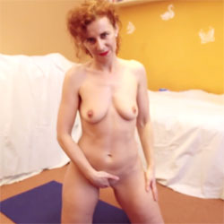 Lena - Fitness Day - Nude Girls, Masturbation, Redhead, Shaved, Softcore, Amateur, See Through