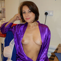 Hot Anna Blue Gown - Brunette Hair, Flashing Tits, Flashing, Natural Tits, Nipples, Perfect Tits, Showing Tits, Hot Girl, Sexy Boobs, Sexy Face, Sexy Girl, Amateur