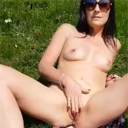 Naked With Nature! - Nude Girls, Brunette, Masturbation, Outdoors, Toys, Amateur, Women Using Dildos