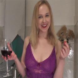 Wine BJ And Cum In Mouth - Blonde, Blowjob, Cumshot, Amateur, GF