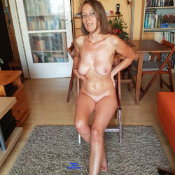 Naked And Ready Wife - Big Tits, Brunette Hair, Chair, Full Nude, Indoors, Shaved Pussy, Sexy Body, Sexy Face, Sexy Feet, Sexy Girl, Sexy Legs, Sexy Wife, Wife Pussy