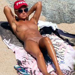 Yummy Body At The Beach - Big Tits, Full Nude, Long Legs, Natural Tits, Nipples, Nude Beach, Nude In Public, Nude Outdoors, Shaved Pussy, Sunglasses, Beach Pussy, Beach Tits, Beach Voyeur, Hairless Pussy, Naked Girl, Sexy Body, Sexy Face, Sexy Feet, Sexy Girl, Sexy Legs