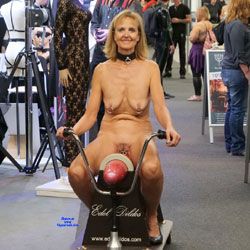 Hot Mature In Erotic Fair - Big Tits, Full Nude, Natural Tits, Navel Piercing, Nipples, Nude In Public, Shaved Pussy, Naked Girl, Nude Amateur, Amateur