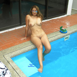 Naked At The Pool - Big Tits, Blonde Hair, Full Nude, Natural Tits, Nipples, Nude Outdoors, Shaved Pussy, Sunglasses, Water, Wet, Hot Girl, Naked Girl, Nude Wife, Sexy Body, Sexy Boobs, Sexy Face, Sexy Feet, Sexy Girl, Sexy Legs, Amateur