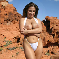 Swimsuit Strip In Outdoor - Big Tits, Bikini, Brunette Hair, Flashing Tits, Flashing, Huge Tits, Large Breasts, Nude Outdoors, Hot Girl, Naked Girl, Sexy Body, Sexy Face, Sexy Girl, Sexy Legs, Amateur