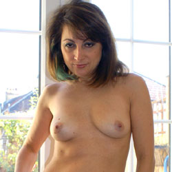 Anna's Yummy Tits And Pussy - Big Tits, Brunette Hair, Full Frontal Nudity, Nipples, Shaved Pussy, Stockings, Strip, Thong, Hot Girl, Sexy Body, Sexy Face, Sexy Girl, Sexy Legs