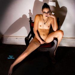 Marcella Lyn In Shadow - Nude Friends, Brunette, Small Tits, Shaved, Amateur, Body Piercings