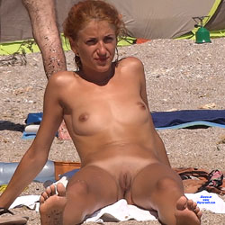 Hot Red Haired Lady - Full Nude, Nipples, Nude In Public, Red Hair, Redhead, Shaved Pussy, Small Breasts, Small Tits, Beach Pussy, Beach Tits, Beach Voyeur, Sexy Ass, Sexy Body, Sexy Face, Sexy Feet, Sexy Girl, Sexy Legs
